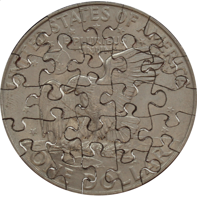 25 Piece Large Dollar - Coin Jigsaw Puzzle