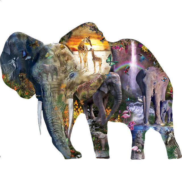Waterfall | Elephant | Jigsaw | Puzzle