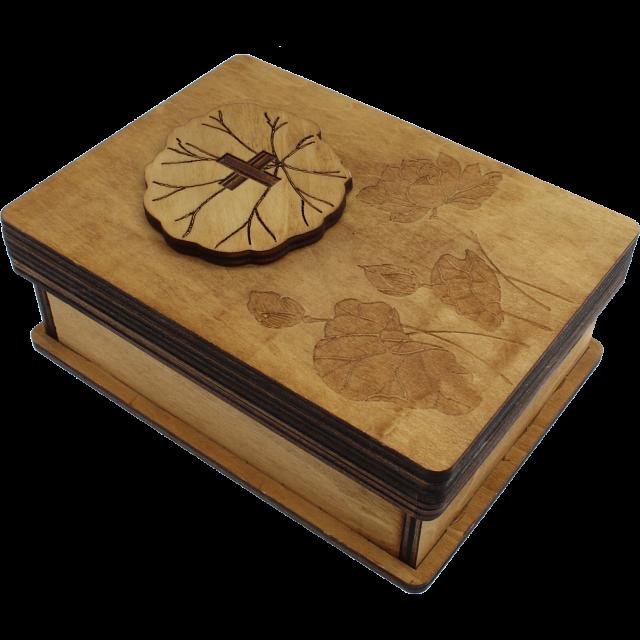 Puzzle | Wooden | Lotus | Box
