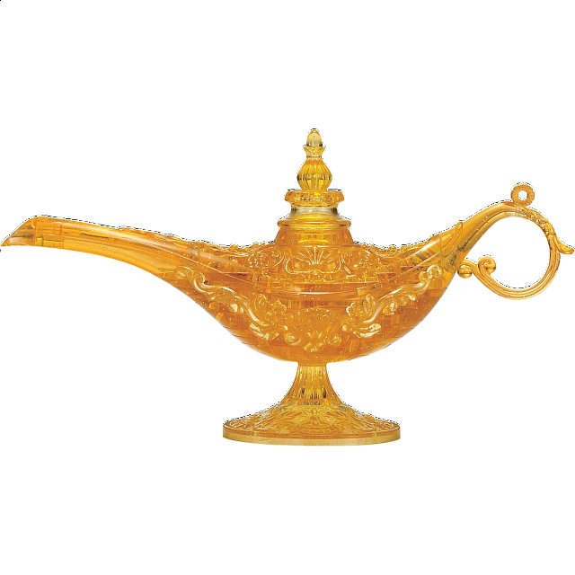 3d Crystal Puzzle - Magic Lamp