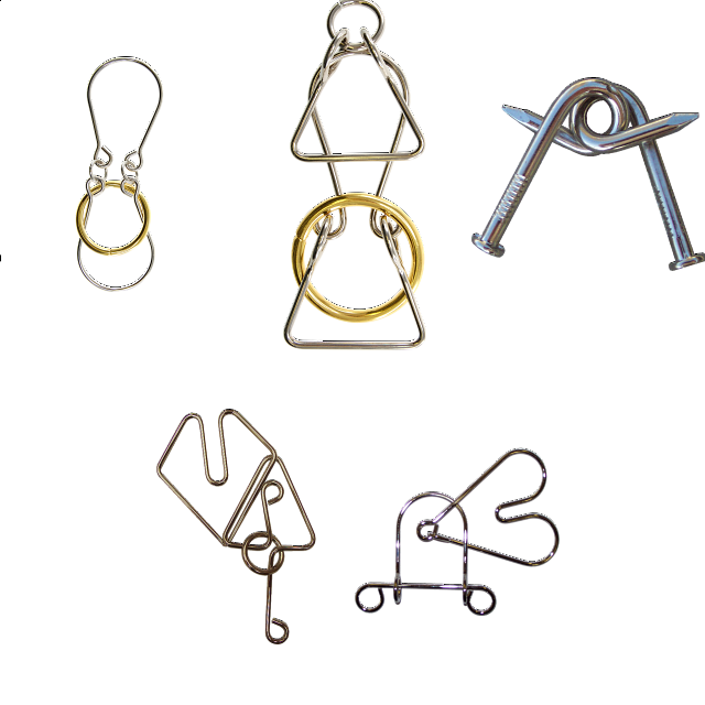 .Level 5 and 6 - a set of 5 wire puzzles