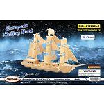 European Sailing Boat - 3D Wooden Puzzle image