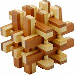 Bamboo Wood Puzzle - Lock Up