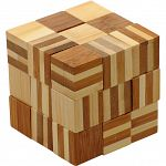 Bamboo Wood Puzzle - Cube Chain image