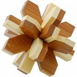 Bamboo Wood Puzzle - Snowflake