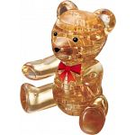 3D Crystal Puzzle - Teddy Bear (Brown) image