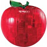 3D Crystal Puzzle - Apple - Red