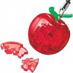 3D Crystal Puzzle Mini - Apple - Red image