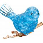 3D Crystal Puzzle - Bird (Blue) image