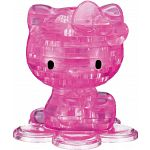 3D Crystal Puzzle - Hello Kitty (Pink)