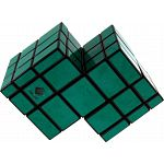Mirror Double Cube - Black Body with Green Labels image