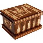 Romanian Puzzle Box - Small Brown image