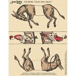 Famous Trick Donkeys - Color - Post Card - French