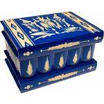 Romanian Puzzle Box - Large Blue