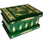 Romanian Puzzle Box - Large Green