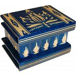 Romanian Puzzle Box - Medium Blue