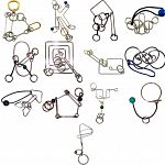 .Level 9 - a set of 13 wire puzzles image