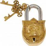 Brass Puzzle Trick Padlock - Sir Thomas Blamey image