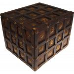 Wooden Cube Design Puzzle Box #1