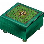 Green Celtic Puzzle Box