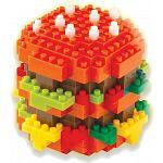 3D Pixel Puzzle - Hamburger
