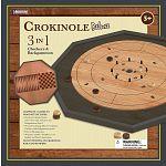 Crokinole 3 in 1 Deluxe Game Board Set - Black image
