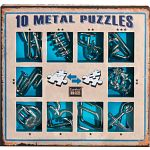 10 metal puzzle set - Blue