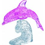 3D Crystal Puzzle Deluxe - Dolphin (Pink) image