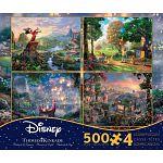 Thomas Kinkade: Disney 4 in 1 Jigsaw Puzzle Collection #2 image