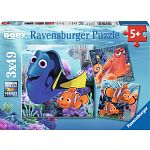 Finding Dory - 3 x 49 piece puzzles image