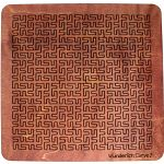 Wooden Fractal Tray Puzzle - Wunderlich Curve 2