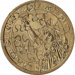 17 Piece Small Dollar - Coin Jigsaw Puzzle image