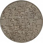 25 Piece Large Dollar - Coin Jigsaw Puzzle image