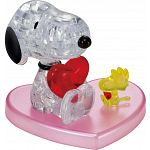 3D Crystal Puzzle - Snoopy Heart image