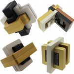 Group Special - Set of 4 Exclusive Puzzle Master Metal Puzzles image