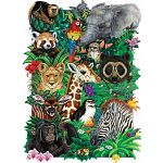 Safari Babies - Family Pieces Puzzle image