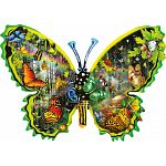 Butterfly Migration - Shaped Jigsaw Puzzle image