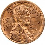 13 Piece Penny - Coin Jigsaw Puzzle image