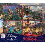 Thomas Kinkade: Disney 4 in 1 Jigsaw Puzzle Collection #7 image