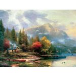 Thomas Kinkade: The End of a Perfect Day- Large Piece image