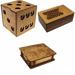 Group Special - a set of 3 Wooden Puzzle Boxes image