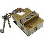 15 Step Extreme Brass & Iron - 2 Key Puzzle Lock image