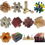 .Level 9 - a set of 12 wood puzzles image