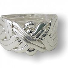 8 Band - Sterling Silver Puzzle Ring -
