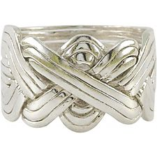 12 Band - Sterling Silver Puzzle Ring -
