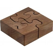 Wooden Spiral - Wedge Key Puzzles -