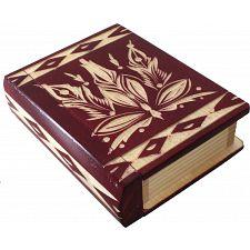 Romanian Secret Book Box - Burgundy -
