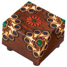 Wooden Floral Puzzle Box #2 -