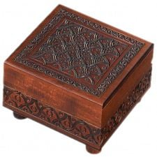 Wooden Carved Puzzle Box -