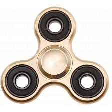 Metal Hand Tri Spinner Anti-Stress Fidget Toy - Gold -